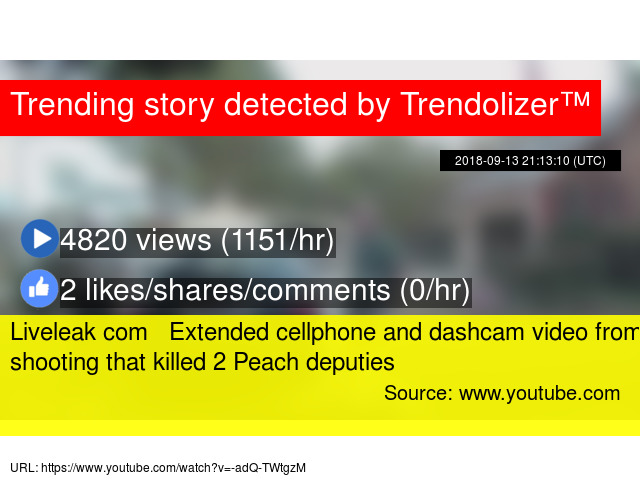 Liveleak com Extended cellphone and dashcam video from shooting that